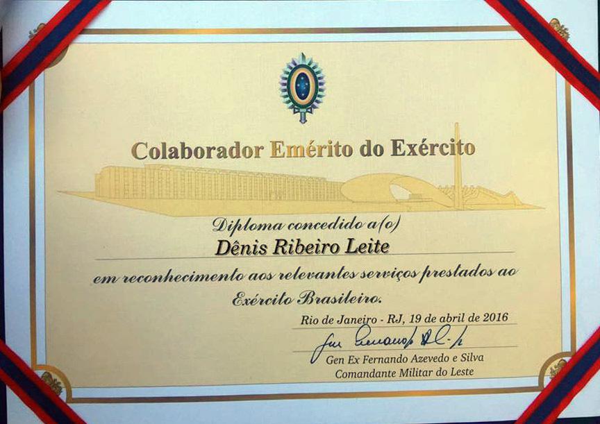 Certificado Denis Ribeiro Leite - Colorido
